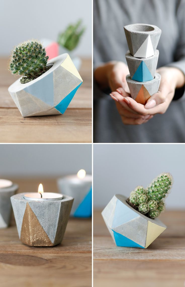 53 Minimalistische Diy Deko Ideen Für Moderne Wohnzimmer Diy Wohnzimmer Zenideen Basteln Mit Beton Diy Vase Selbermachen Basteln Zu Hause