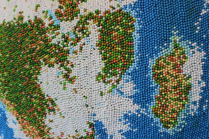 A Globe Made Entirely Out Of Individually Painted Matches by Andy Yoder