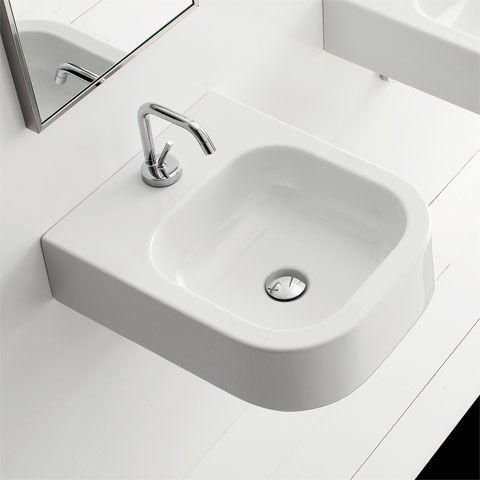 Scarabeo Waschbecken scarabeo waschtisch aufsatz oder wandhängemodell weiß 8047b