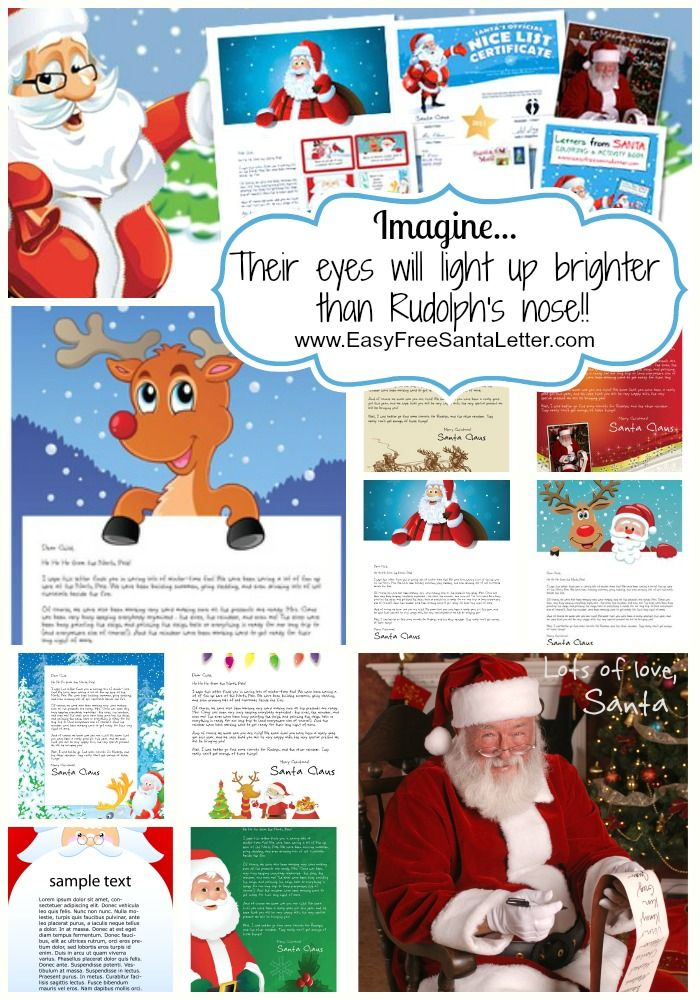 Letters From Santa Personalized  Printable  With Over