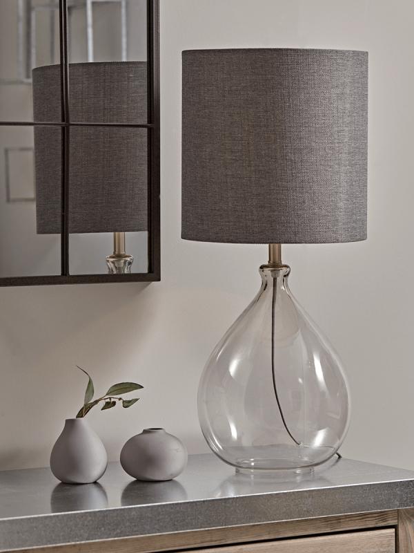 Sanna Smoke & Blush Table Lamp | Table