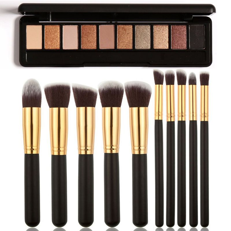 1f21cf12d Hot Sale Focallure Makeup Set 1 Pc 10 Color Eye Shadow+10 Pcs Makeup Brush