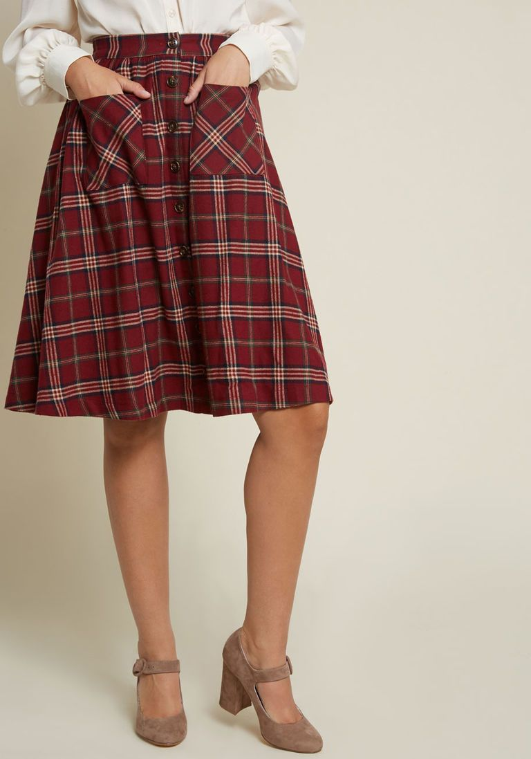 Dress with flannel around waist  Encouraging Outlook Flannel Skirt  Products  Pinterest  Flannel