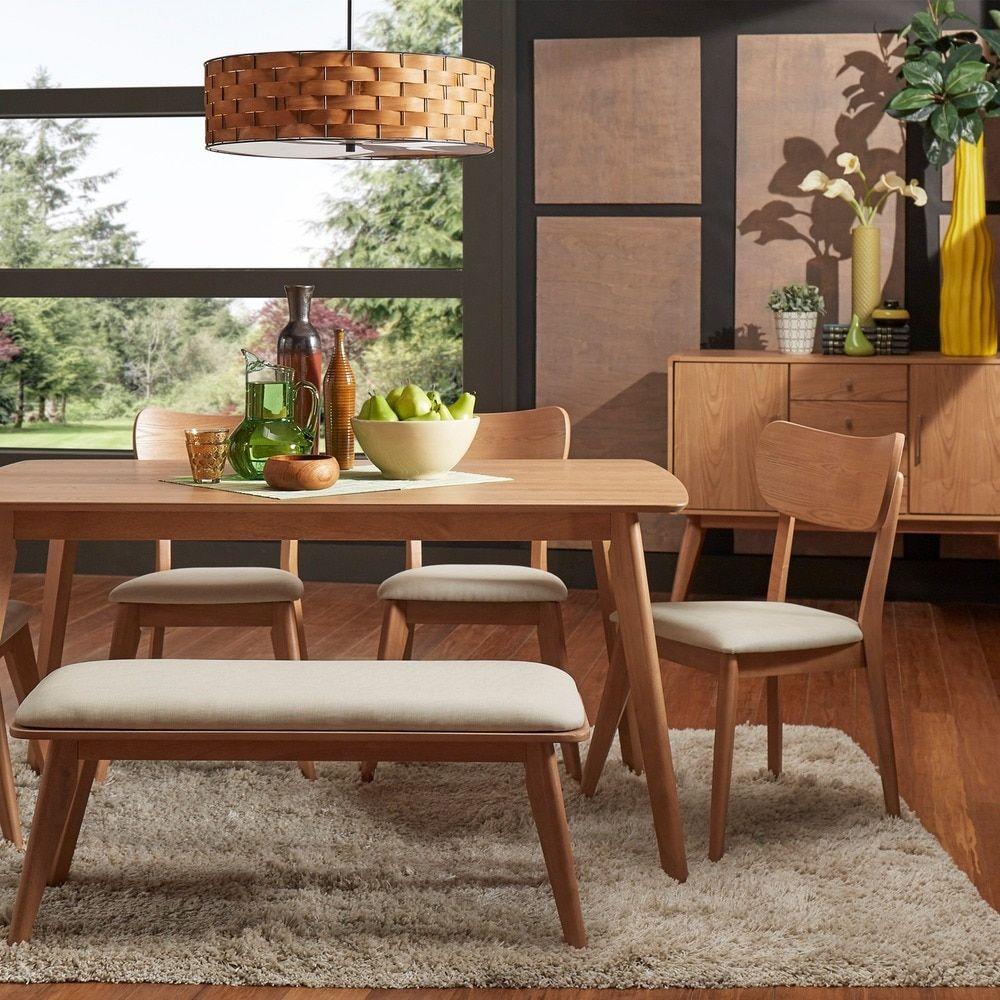 MID-CENTURY LIVING Penelope Danish Modern Natural Oak Dining Set