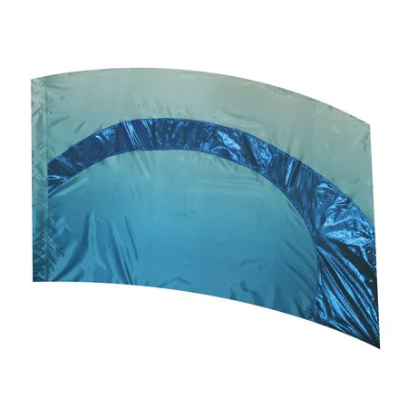 Style Plus In Stock Show Flag MCHBL 1 SPFL011 - Blue Shaded Poly China Silk with Sapphire Metallic