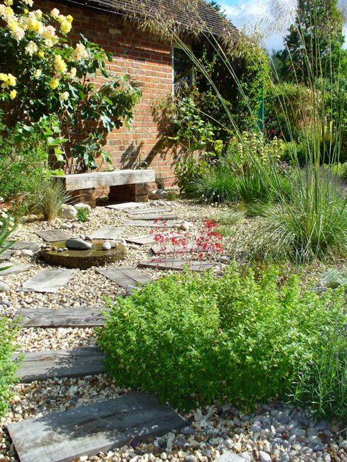 Low Maintenance Gravel Garden Design Stanford Dingley Berkshire