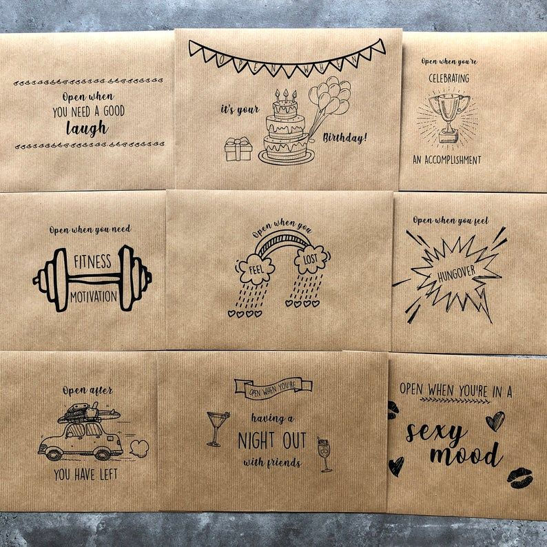 Set of Open When Letters Quarantine Long Distance Gift Present