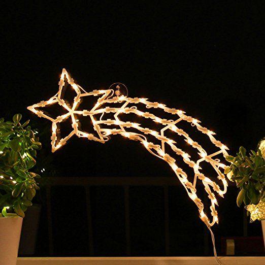 Fenster Weihnachtsbeleuchtung.Fenster Silhouette Weihnachten 50cm Weihnachtsdeko Fensterbilder