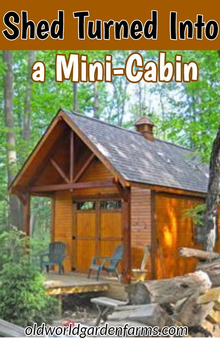 Converting A Shed Into A Tiny Guest House Cabin Prefab
