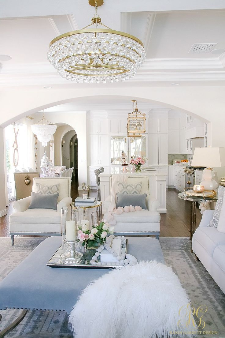 Romantic Valentine\'s Day Home Tour + Styling Tips | Romantic, Living ...