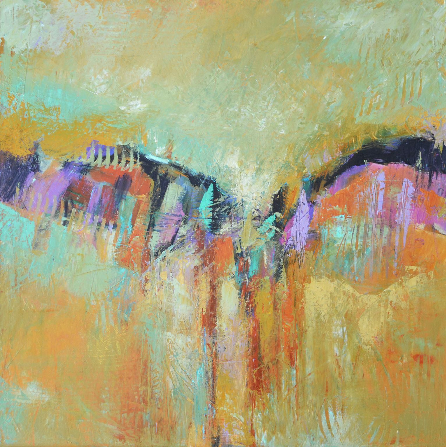 "'Firebird' by Filomena  Booth | $1000 | 24""W x 24""H x 1.5""D | Original Art | http://vng.io/l/7hmOvD-9c_ @VangoArt"