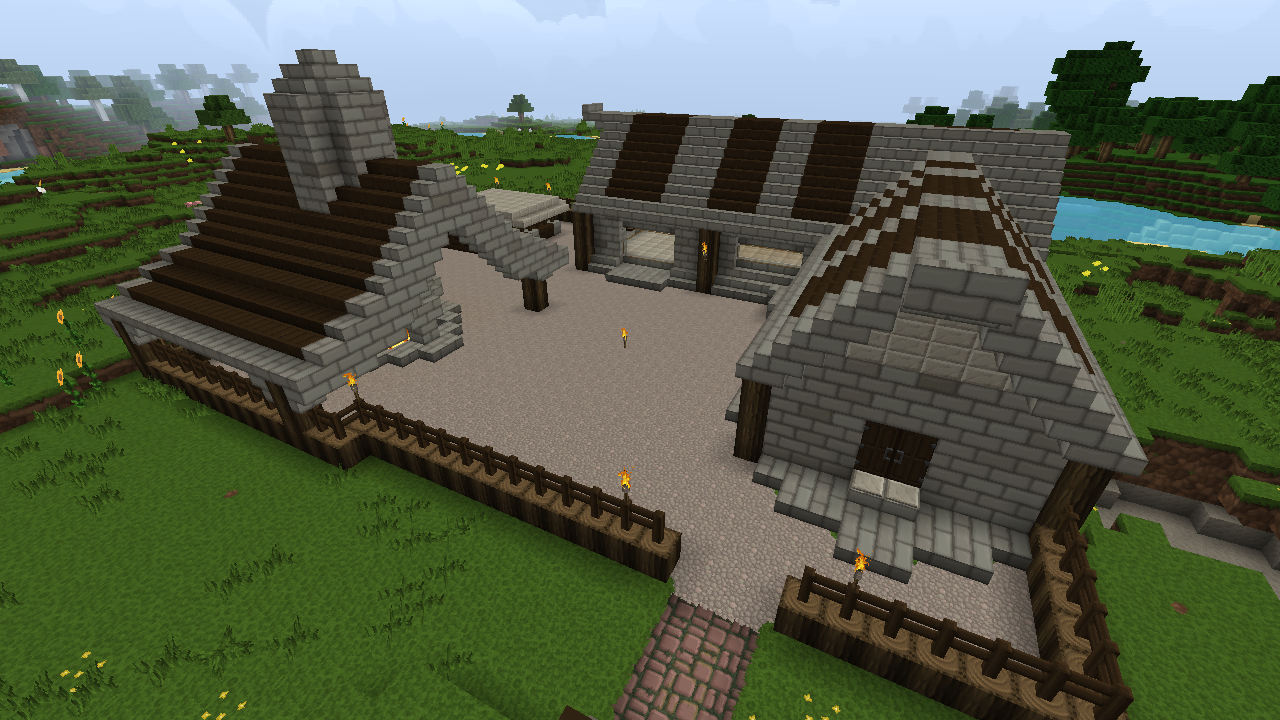 Darkoak And Stone Brick Blacksmith Mining Camp Minecraft