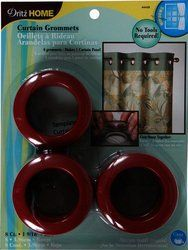 Dritz 44439 Round Curtain Grommets Red 1 9 16 Inch 8 Pack By