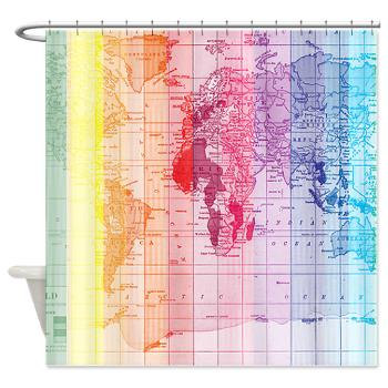 Rainbow map fabric shower curtain colorful home decor bathroom rainbow wrold map fabric shower curtain colorful unique home decor bathroom maps gumiabroncs