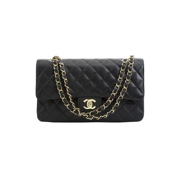8f766a7c103625 Chanel 2.55 Medium Cuir Caviar pas cher ❤ liked on Polyvore   . A A ...