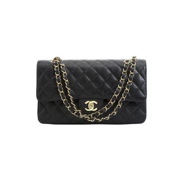 0d098e4cb52 Chanel 2.55 Medium Cuir Caviar pas cher ❤ liked on Polyvore ...