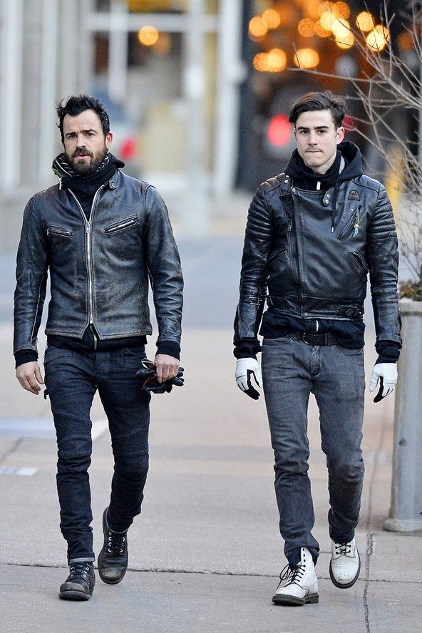 Justin Theroux and his brother Sebastian both seem to have a penchant for leather jackets. While Justin's about to tie the knot, his younger brother is still on the market!