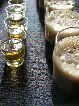 shots and bombs flaming doctor pepper bomb apple jack shot