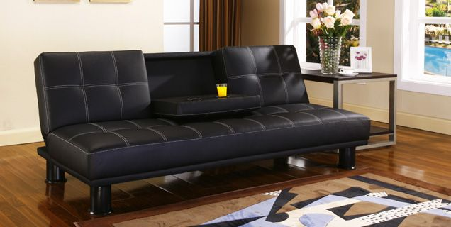 Soda Futon In Sophisticated Black With