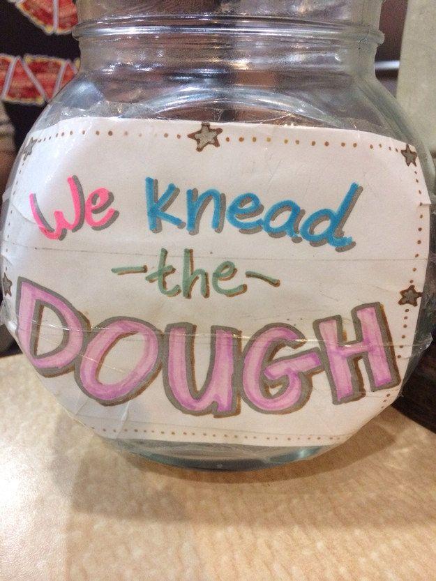 This Pizzeria Pun Funny Tip Jars Tip Jars Funny Tips