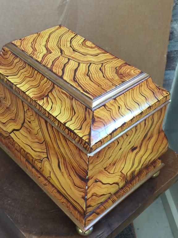 Maitland-Smith Hand Lacquered Wooden Tea Caddy Box, 1980 5