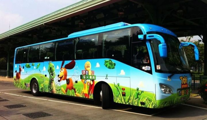 toy story disneyland paris bus love disney transportation disney buses pinterest. Black Bedroom Furniture Sets. Home Design Ideas