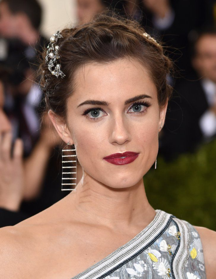 Pin for Later: Dunkler Lippenstift war das Must-Have bei der Met Gala Allison Williams