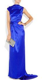 Roksanda Ilincic Skylark Silk Satin Gown Net A Porter Com Satin Gown Fashion Silk Satin