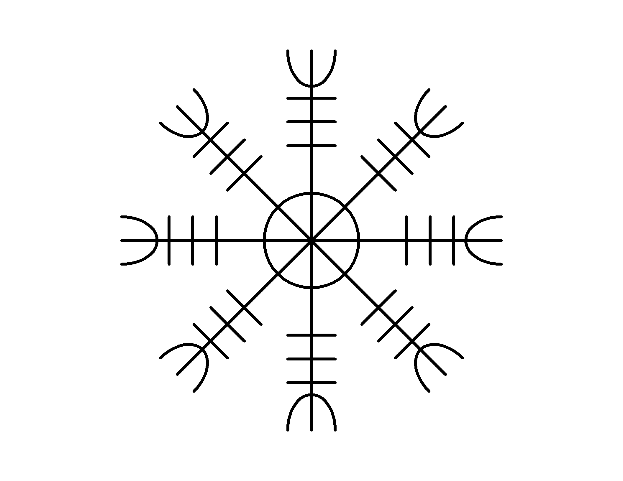 Aegishjalmur A Norse Symbol Worn By Warriors In Battle For