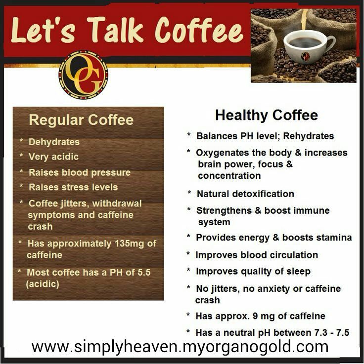Which one do you choose? Healthy coffee, Organo gold
