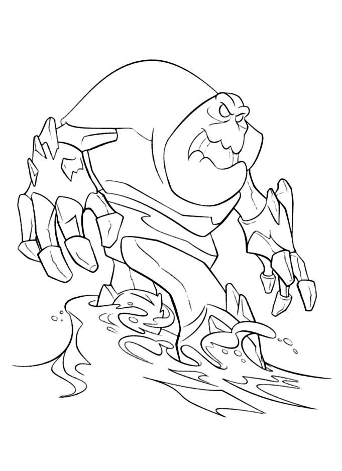 Frozen Monster Coloring Pages