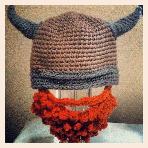 Crochet Viking Beard Hat by magicalshan on Etsy, $20.00 | Kids stuff ...