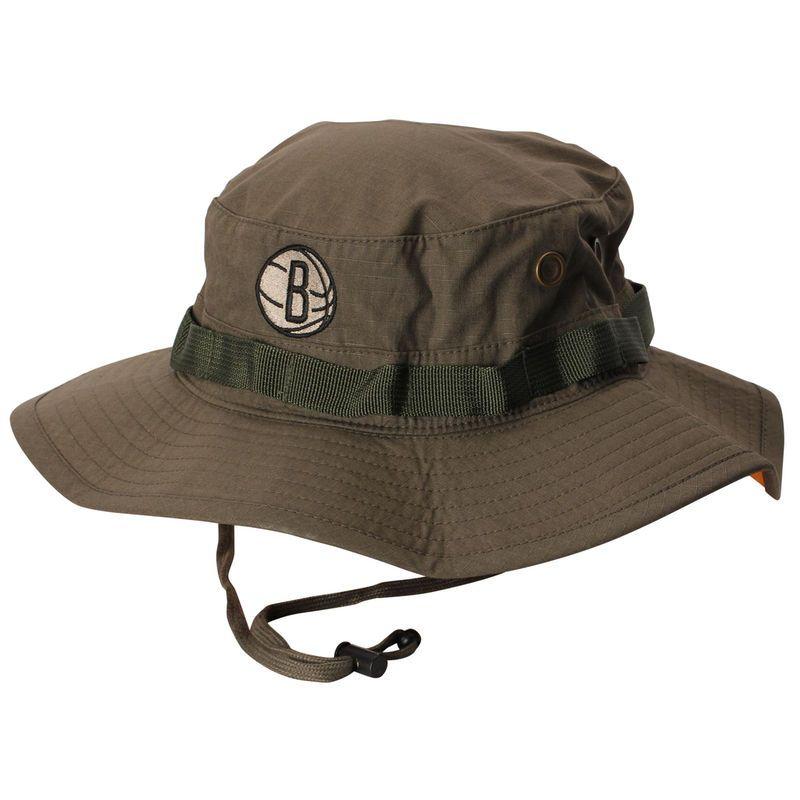 7944c45237d Brooklyn Nets Mitchell   Ness Boonie Logo Bucket Hat - Green ...