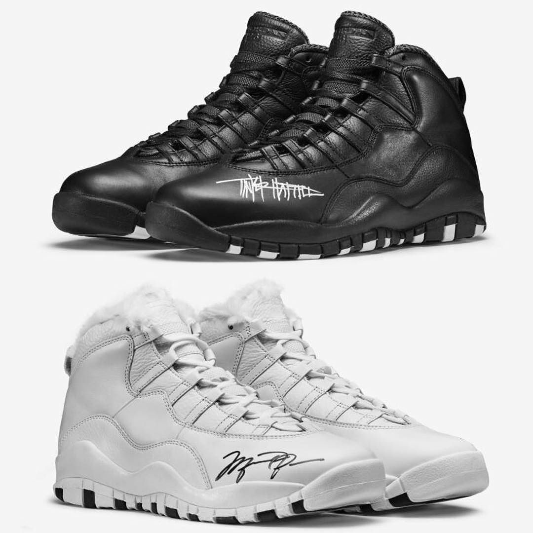 """7959c69150 Jordan Brand has teamed up with OHSU Doernbecher Children's Hospital to  auction off special """"Grimm"""" Air Jordan 10s signed by Tinker Hatfield and  Michael ..."""