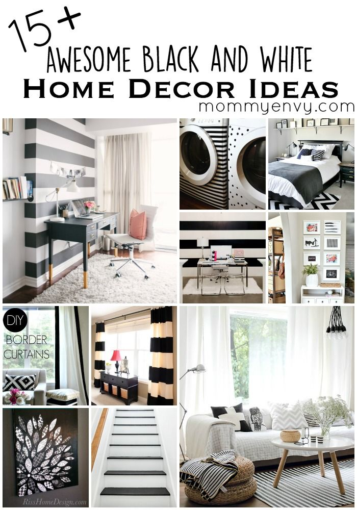 15 awesome black and white home decor ideas black and. Black Bedroom Furniture Sets. Home Design Ideas