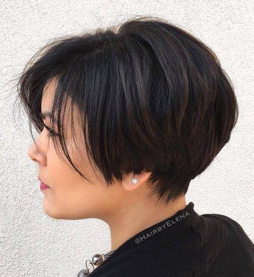 60 klassische kurze Frisuren und Frisuren für dickes Haar - Beste Frisuren Haarschnitte #edgybob