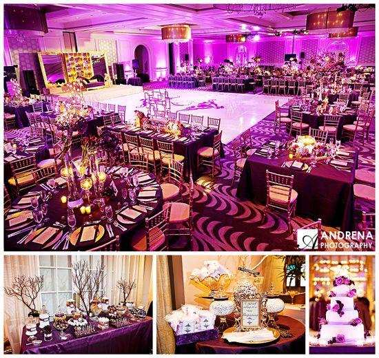 Purple Wedding Themes Ideas: It's Raining Purple. :) Majestic Purple & Gold #Indian