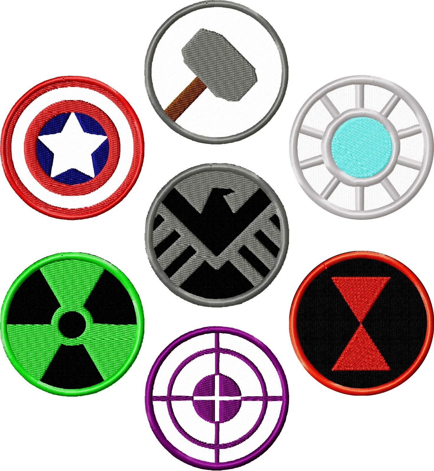 Marvel Avengers Logo Iron-On Patch Superhero Applique Embroidered Patch Costume