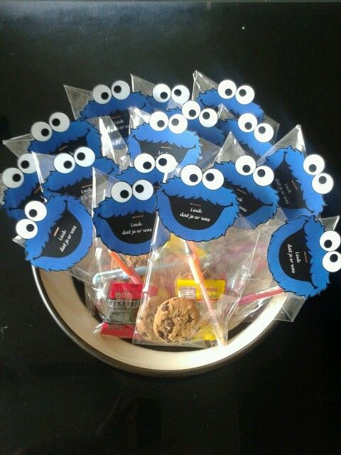 Koekiemonster Feestje Bedankjes Sesame Street Pinterest