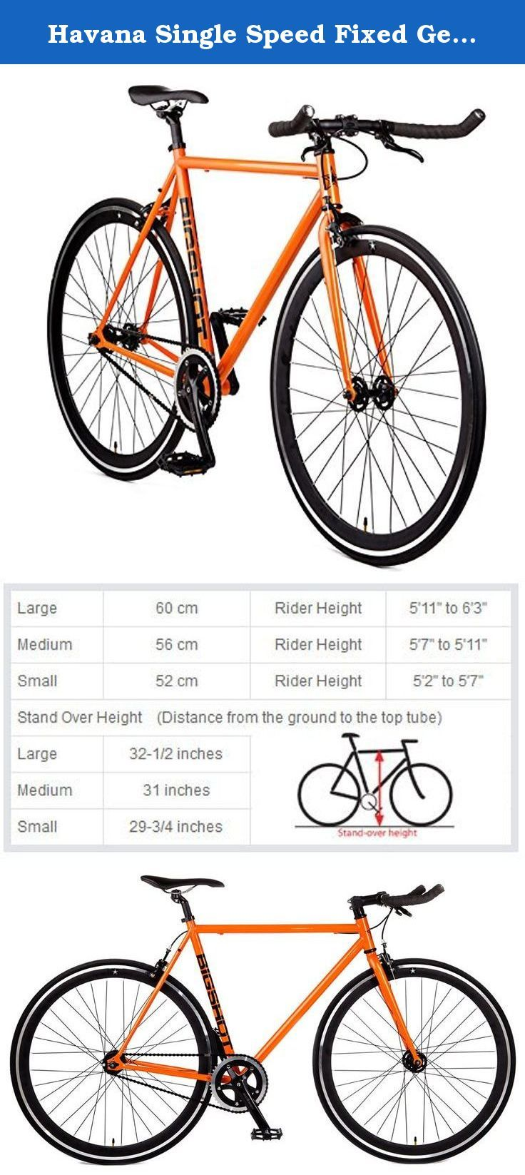 6c70ba1b41f Havana Single Speed Fixed Gear Road Bike Size: Medium 56cm - 5'7