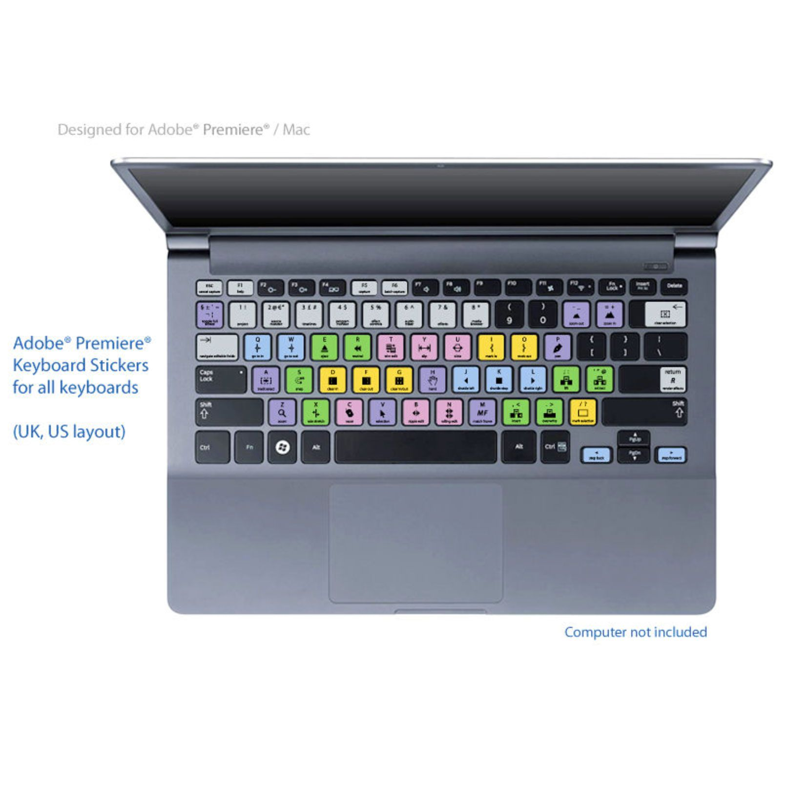 Adobe Premiere Pro Keyboard Shortcuts Stickers Labels For