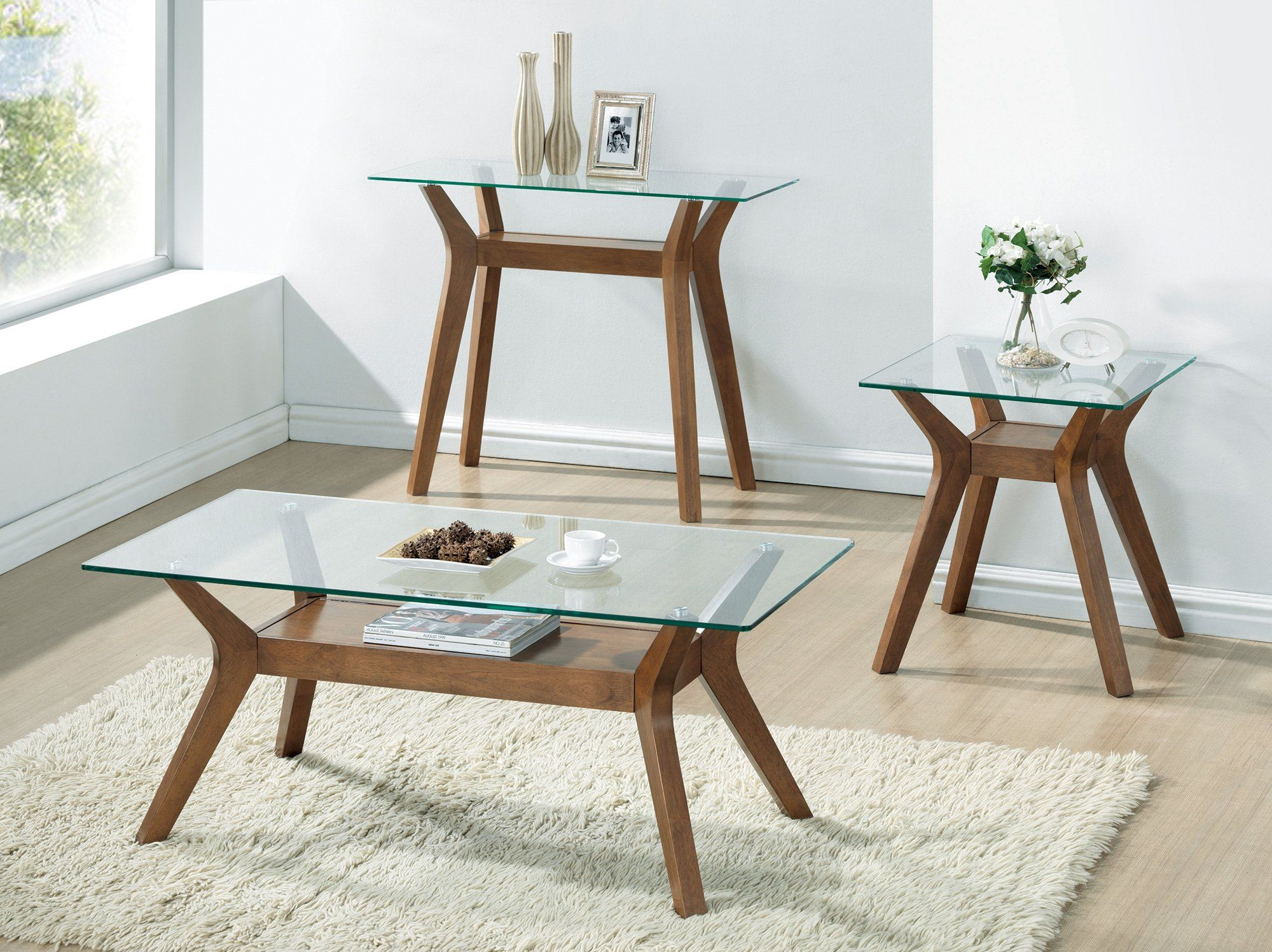 Coaster Glass Top End Table In Nutmeg A Lot More Details Can Be Discovered At The Photo Link T Coffee Table Living Room Coffee Table Glass Top End Tables [ 1498 x 2000 Pixel ]