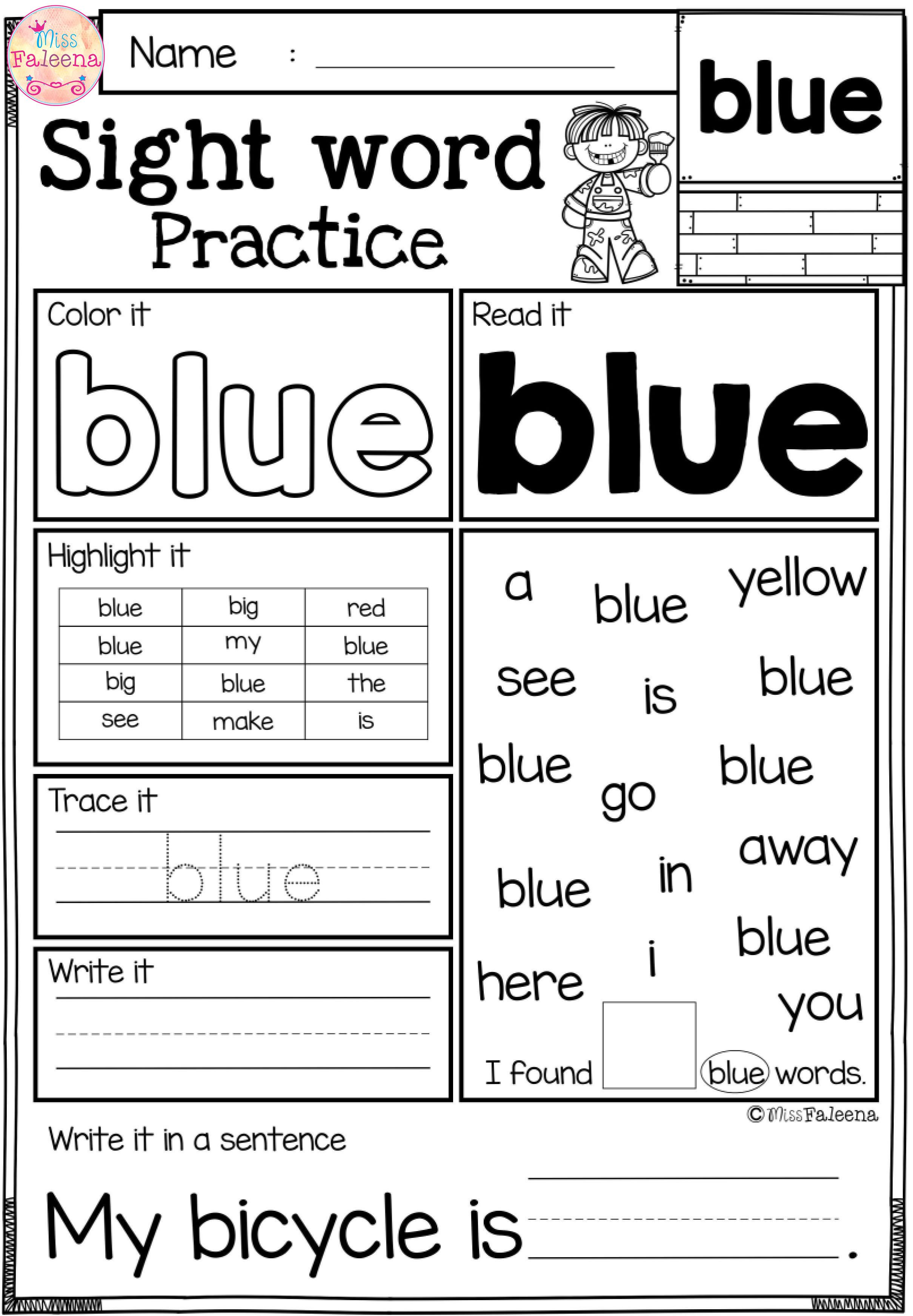 Free Sight Word Practice