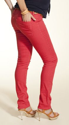 4a140a20b1d6d Red over the bump coloured maternity jeans from Boob Design ...