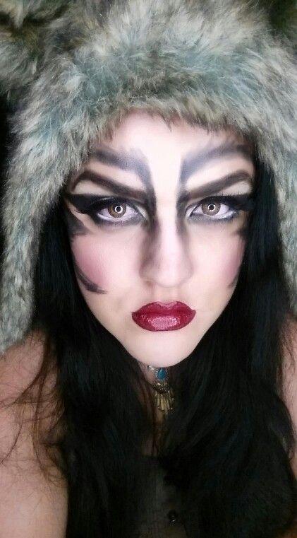 Halloween Makeup Beauty She Wolf Werewolf Wolf Girl ...