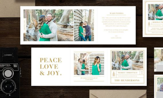 Christmas Card Templates For Photographers 5x5 Trifold Etsy Holiday Card Template Holiday Design Card Christmas Card Template