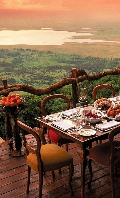 Ngorongoro Crater Lodge, Tanzania African Safari. Bucket List. Add it now. Trust me...you want to go there. #travelhacks