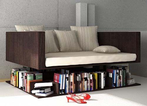 Móveis Funcionais Chaise livros