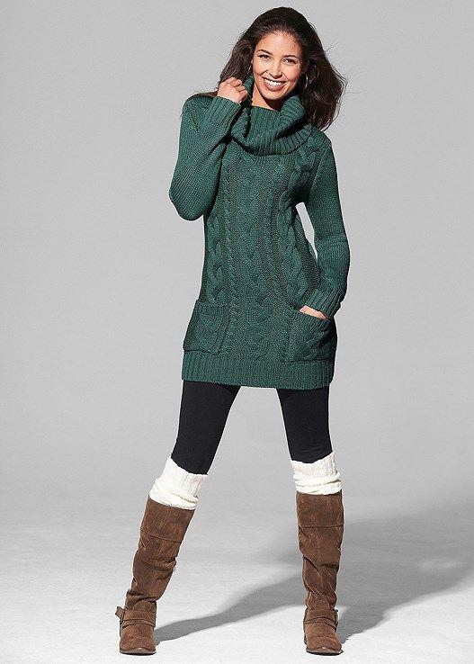4fab90b1ee8 Venus Women s Cozy Sweater Dress - Green