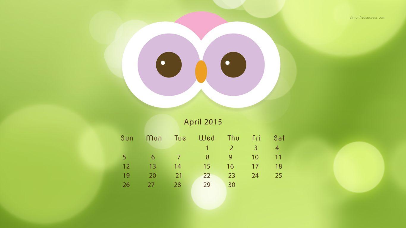 April 2015 desktop wallpaper Pinned by www.myowlbarn.com